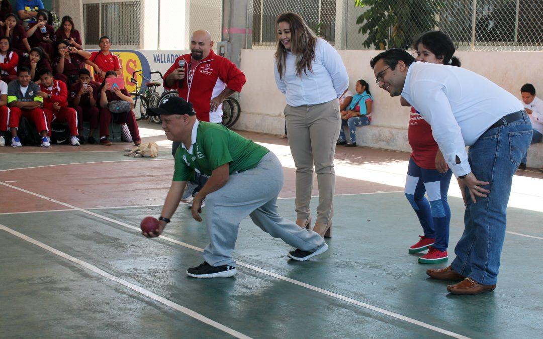 Exhibición de deporte adaptado en Valladolid.