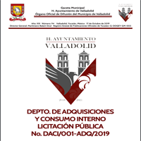 DEPTO. DE ADQUISICIONES Y CONSUMO INTERNO LICITACIÓN PÚBLICA No. DACI/001-ADQ/2019